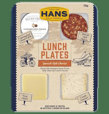HANS LUNCH PLATE CHORIZO & ONION 110G