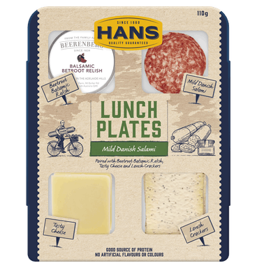 HANS LUNCH PLATE SALAMI & CHEESE 110G